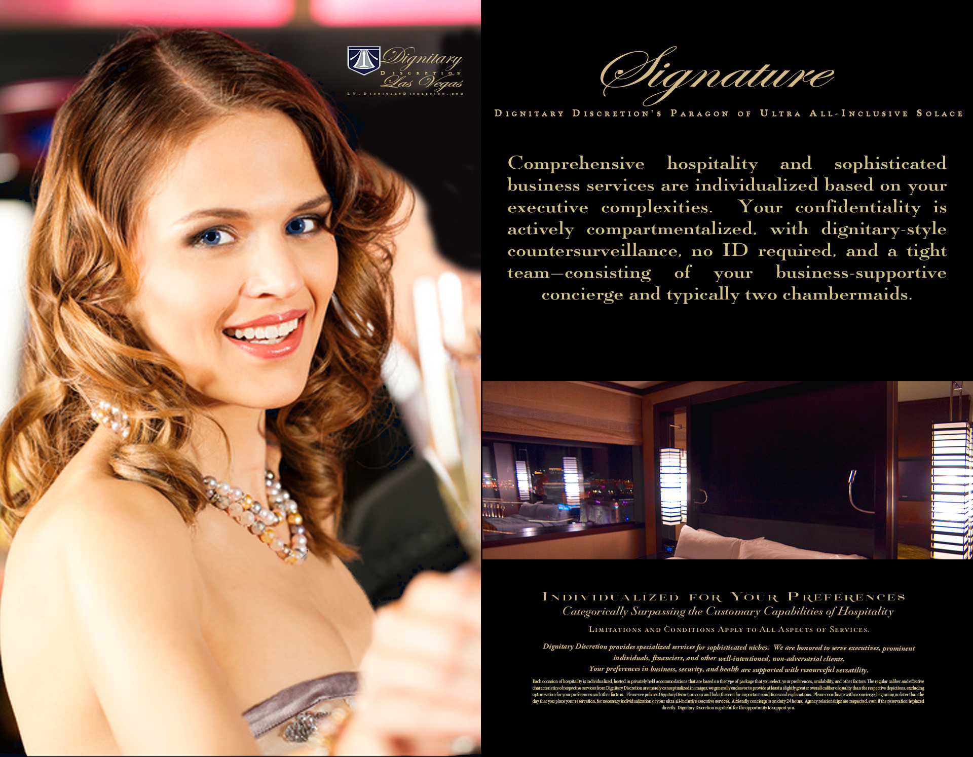 Dignitary Discretion Las Vegas Signature Package